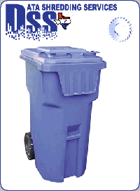 95 gallon document shredding container
